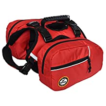 Lifeunion 2 in 1 Service Dog Harness Saddlebags Backpack with 2 Removable Packs for Hiking Camping Travel Pack Outdoor Accessory (S)