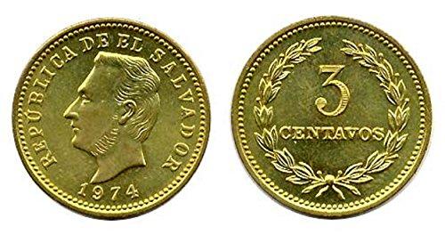 SV 1974 Forty (40) El Salvador 3 Centavos Uncirculated Coins, Km 148 Uncirculated