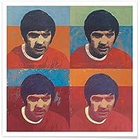 """JUNIQE® Affiche 20x30cm Football Champions de sport - Design """"Football Icon - Pelé 1958"""" (Format : Portrait) - Poster, Tirages d'art & Tableaux par des artistes indépendants - Impressions d'art de football - créé par David Diehl"""