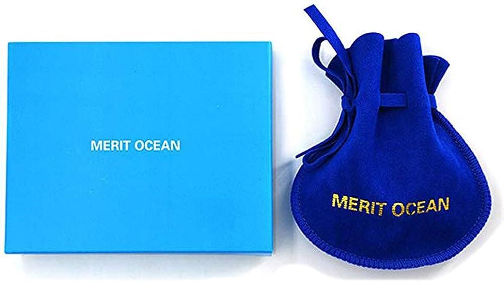 Merit Ocean Smart Mens Wood Tie Clip Natural Tie Bar 2.1 Inch in Gift Box