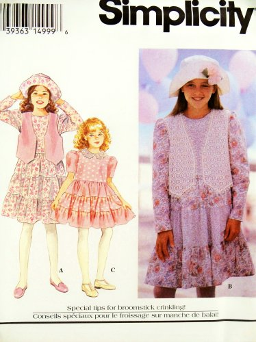 OOP Simplicity Pattern 8839. Girls Sizes 7;8;10 Easter/spring Dress W/3 Tiered Skirt; Vest; & Hat