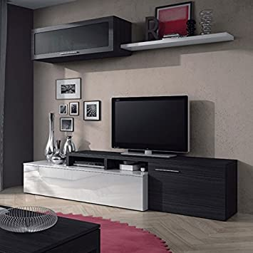 composición Mueble de salón de diseño Moderno: Amazon.es: Hogar