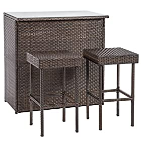 Patio Set 4 Pieces Outdoor Patio Chairs Wicker Sof...