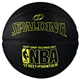 Spalding 71025 NBA Street Phantom Outdoor Basketball, Neon Yellow/Black, Size 7/29.5'