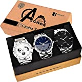 Acnos Special Super Quality Analog Watches Combo Look Like Handsome for Boys and Mens Pack of - 3(STL-437-436)
