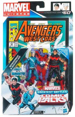 Wonder Man Figure - Marvel Universe Wonder Man and Quicksilver Figure Comic Pack 4 Inches