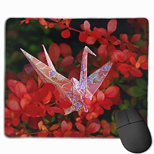 Jmirelife Gaming Mouse Pad Mousepad Custom Design Origami Cranes Oblong Mouse Mat £¨9.84 X 11.81Inches £