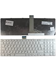 Keyboards4Laptops German Layout White Frame White Windows 8 Replacement Laptop Keyboard Compatible with Toshiba Satellite S55DT-A5130