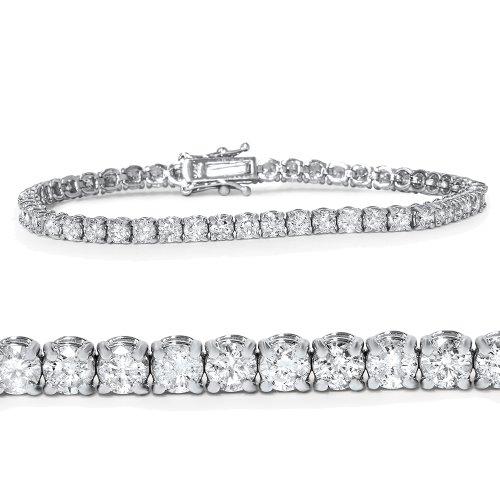 """4.00CT Natural Diamond Tennis Bracelet 14K White Gold 7"""" (Not Enhanced)"""
