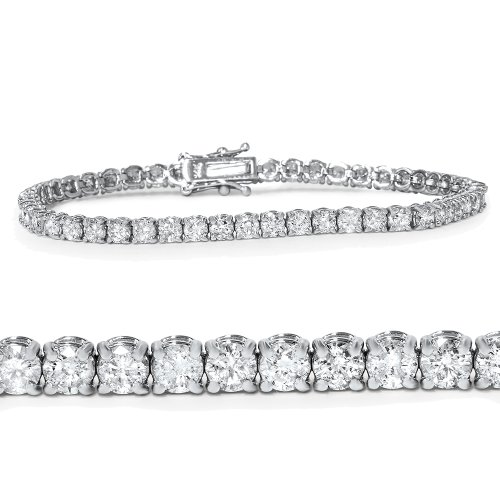 "4ct Diamond Tennis Bracelet 14K Yellow Gold 7"""