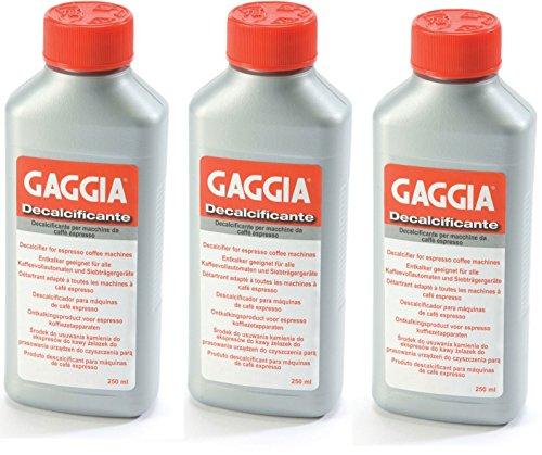 Gaggia Decalcifier Descaler Solution 250ml (3 pack) (Parts Gaggia Espresso Machine)