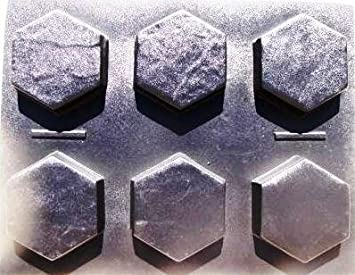 6 Hexagon Molds Make 9u0026quot; X 9u0026quot; X 2.5u0026quot; Thick Driveway Or Patio
