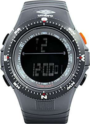 UMBRO UMB-05-1 Unisex ABS Gray Band, ABS Bezel 50mm Case Digital MIYOTA 2025 Electronic Precision Movement Water Resistant 5 ATM Sport Watch