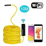 TurnRaise 5M Rigid WiFi Wireless Endoscope Cable 2.0 Megapixels HD Borescope Inspection Snake Camera for All iPhones(Above IOS6)/Android Phones/iPads/PC