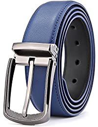 Men's Belt,Bulliant Genuine Leather Belt for Men Dress&Casual with Pin Buckle 1 3/8, Trim to Exact Fit