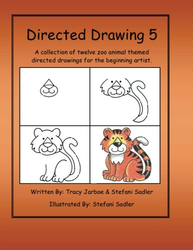 Directed Drawing-V5-Zoo Animals: A collection of twelve zoo animal themed directed drawings for the beginning artist.