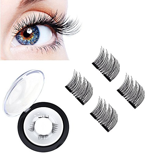 VASSOUL Dual Magnetic Eyelashes-0.2mm Ultra Thin Magnet-Lightweight & Easy to Wear-Best 3D Reusable Eyelashes Extensions - How Fake To Eye Test An