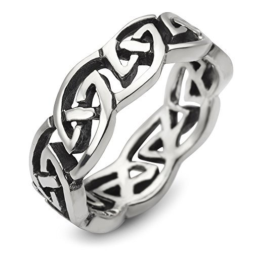 925 Sterling Silver Celtic Knot Eternity Trinity Classic Band Ring Size 7 (Ring Classic Knot Celtic)