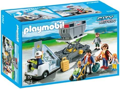 PLAYMOBIL - Escaleras de avión con pasajeros y mercancías (5262): Amazon.es: Juguetes y juegos