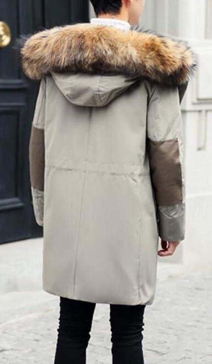 XiaoTianXinMen XTX Men Mid Length Hooded Warm Winter Down Quilted Coat Jacket Outwear Black XXS