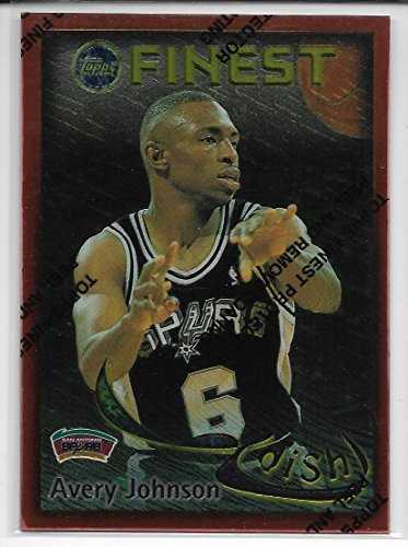1995-96 Finest Basketball Avery Johnson-David Robinson Dish And Swish Insert