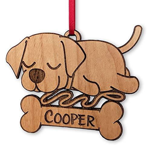 Labrador Retriever Family Pet Custom Christmas Ornament for Dog Mom Birthday Lab Present Idea Personalized Tree Decor Gifts