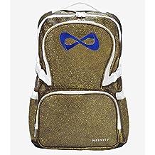 Nfinity Sparkle Backpack Gold w/ Navy Blue Logo