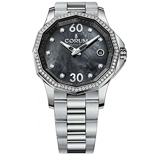Corum Admiral'S Cup Legend 38 082.101.47/V200 PN11 38mm Diamonds Automatic Silver Steel Bracelet & Case Anti-Reflective Sapphire Women's Watch