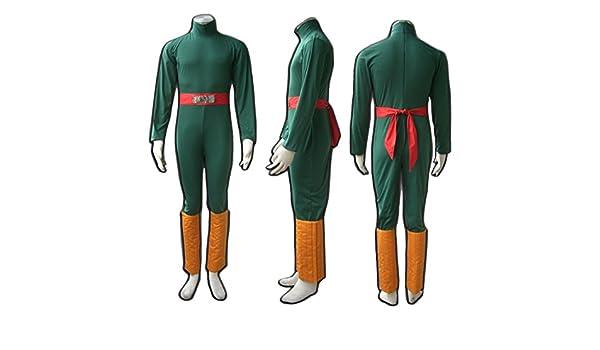 dazcos Naruto Rock Lee 1st versión traje de Cosplay: Amazon ...