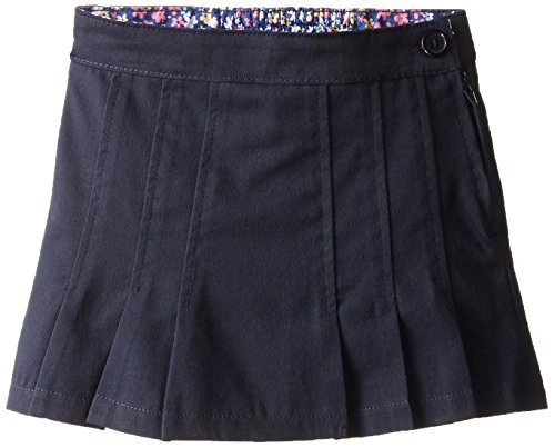 Girls Belted Twill Pants (Genuine Little Girls' Scooter (More Styles Available), Twill Navy-PIJAF, 5)