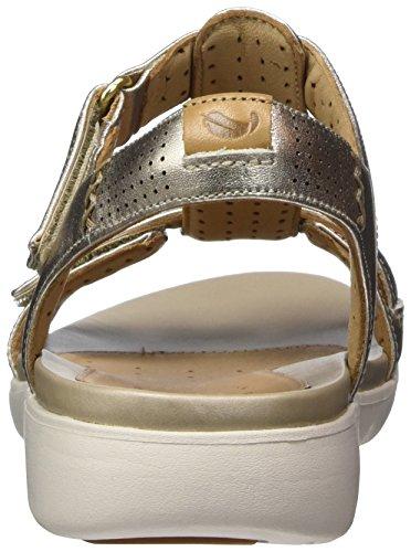 Clarks Donna Metallic a Sandali Oro Haywood Gold Chiusura con T Un rrPq0