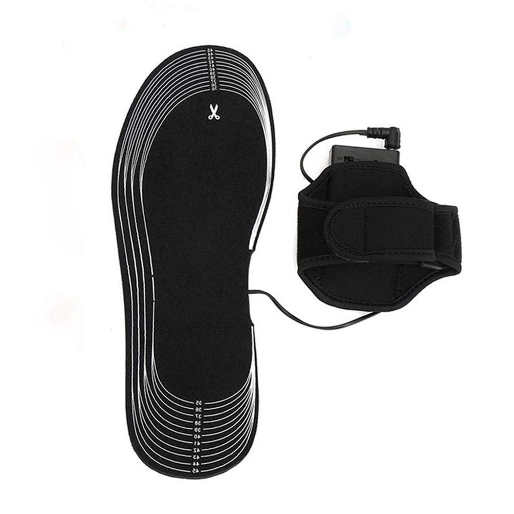 Per-Trading Plantillas t/érmicas t/érmicas de carb/ón Luerme Almohadillas de Carbono Zapatos de calefacci/ón con bater/ías Plantillas de Calentamiento de Invierno para Mujeres Hombre 35-45
