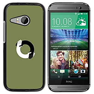 Planetar® ( When Different People Come Together ) HTC ONE MINI 2 / M8 MINI Fundas Cover Cubre Hard Case Cover