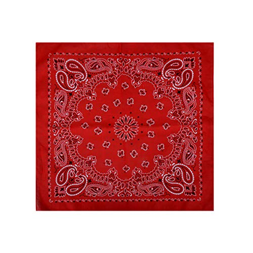 12 Pack Cotton Wreath Bandanas Square Handkerchiefs for Home -