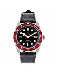 Tudor Heritage Black Bay Black Leather Mens Watch 79220R-BKLS by Tudor