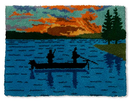 MCG Textiles Fisherman at Sunset Latch Hook Rug Kit by MCG Textiles