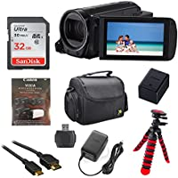 Canon Vixia HF R70 16GB Wi-Fi 1080p HD Video Camcorder with 32GB Card, Battery & Charger, Spider Tripod (Gorillapod), Case