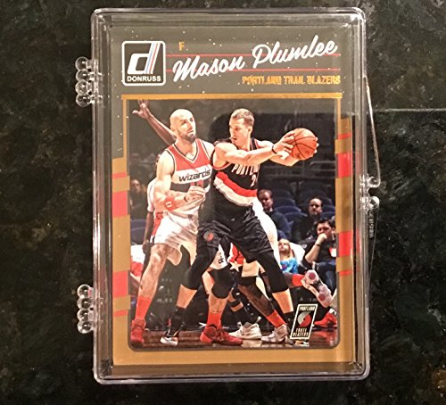 2016-17 Donruss Portland Trail Blazers Complete Set 6 Cards - Including Jake Layman RC, Evan Turner, Damien Lillard, Aminu, C.J. McCollum, and Mason Plumlee.