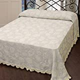 Seashell Matelasse Bedspread (Size: Twin, Color: French Blue)