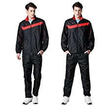 Fuerza Mens Built-In Hood Lightweight Mesh Track Jacket Pants Woven Tracksuit