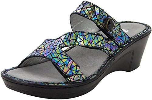 Alegria Womens Loti Wedge Sandal, Tectonic, Size 36 EU (6-6.5 M US Women)