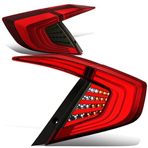 DNA Motoring TL-3D-HC164P-RDSM Red/Smoked 3D LED Bar Styling Tail Light[16-18 Honda Civic]