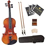 Cecilio-44-CVN-320L-Left-Handed-Ebony-Fitted-Solid-Wood-Violin