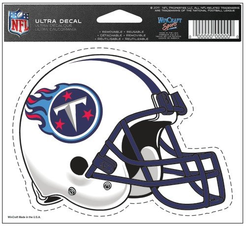 "Tennessee Titans Team Logo 5""x6"" NFL Helmet Decal"