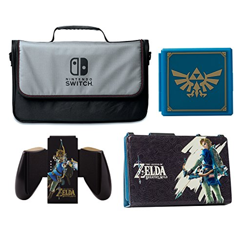 PowerA Everywhere Messenger Bag with Legend of Zelda Hybrid Cover, Joy-Con Comfort Grip & Premium Card Cases Kit - Nintendo Switch by BD&A