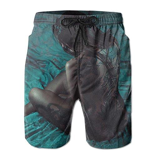 Fantastic Fantasy Soft Sports Men's Casual Swimming Drawstring Board Shorts - Ray Naked Summer