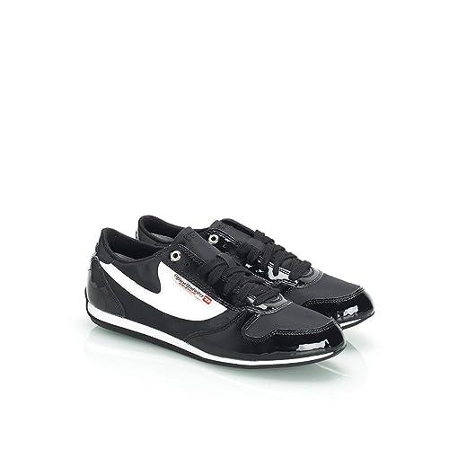 Diesel - Zapatillas de Sintético para Mujer Blanco/Negro, Color, Talla 39 EU: Amazon.es: Zapatos y complementos