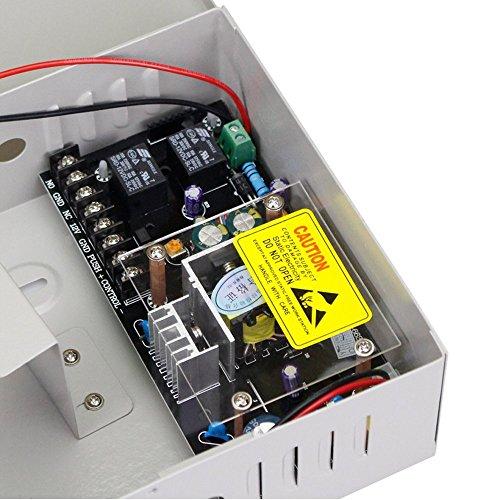 LIBO Smart Home AC90V//260V 5A Access Control Power Supply Box DC12V UPS Backu...