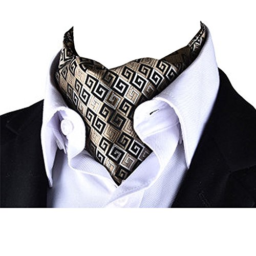 Jacquard Cravat Reversible Scarf Paisley Ascot Patterned Luxury X911 Men's Tie YCHENG aqYRnUpa
