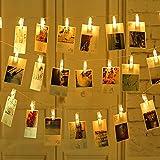 مصباح LED بمشبك خيط الجنية بطول 3 متر 30 مشبك USB وببطارية تعمل بالبطارية لحفلات الزفاف وديكورات المنزل